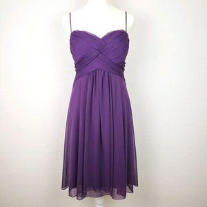 Windsor purple chiffon short simple prom dress